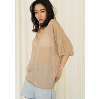 シールームリン(SeaRoomlynn)のSeaRoomlynn シアーニットルーズTシャツ(Tシャツ(半袖/袖なし))