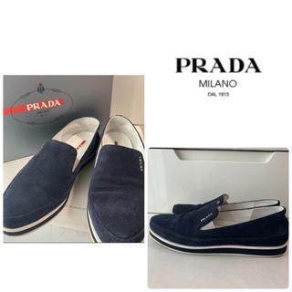 PRADA - プラダ ネイビースエード スニーカー