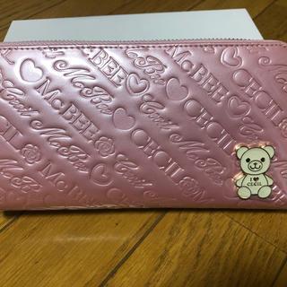 CECIL McBEE - セシルマクビー ベアプレート型押し長財布 ピンク