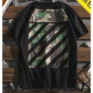 XL ミリタリーライン ブラック 黒 ペアルック Tシャツ メンズ服 レディース