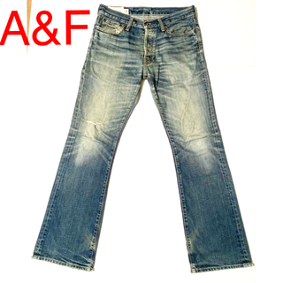 Abercrombie&Fitch - ABERCROMBIE AND FITCH ローライズスリムブーツカット W31