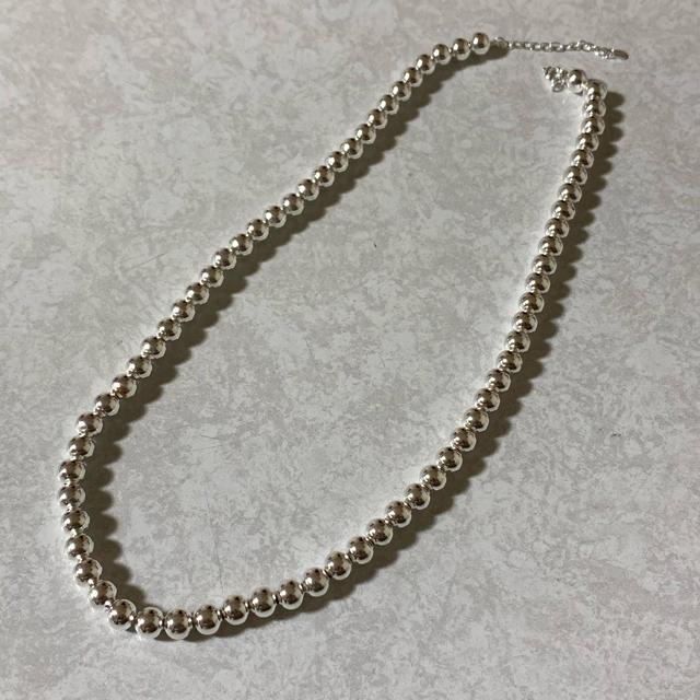 TODAYFUL(トゥデイフル)のsilver925  ナバホパール ボールチェーン ネックレス レディースのアクセサリー(ネックレス)の商品写真