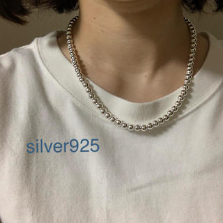 TODAYFUL - silver925  ナバホパール ボールチェーン ネックレス