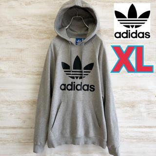 adidas - adidas アディダス ビックロゴ パーカー XL グレー