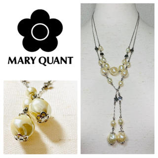 MARY QUANT - MARY QUANT パール ロング ネックレス マリークワント