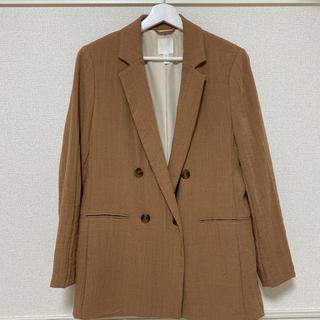 エイチアンドエム(H&M)のH&M ダブルブレストジャケット ブラウン(テーラードジャケット)