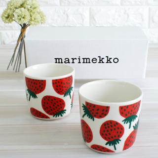マリメッコ(marimekko)のマリメッコ ラテマグ マンシッカ (いちご) コップ marimekko(グラス/カップ)