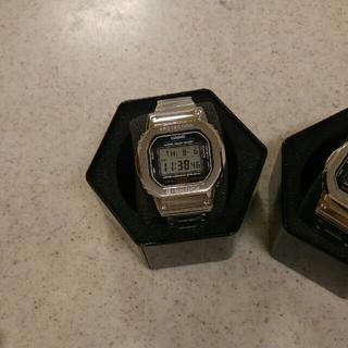 ジーショック(G-SHOCK)のg-shock dw5600e-1 シルバーカスタム(腕時計(デジタル))
