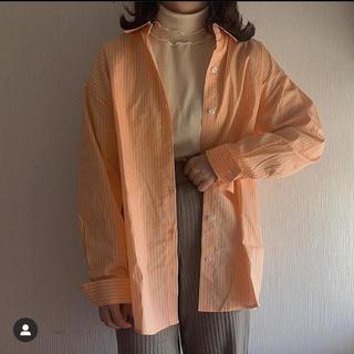 トゥデイフル(TODAYFUL)のenvylook オレンジストライプシャツ(シャツ/ブラウス(長袖/七分))