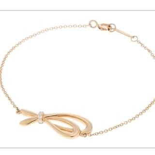 Tiffany & Co. - ティファニー ボウブレスレット リボン ピンクゴールド
