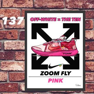 ZOOM FLY off-white コミックシューズ ポスター 1枚(スニーカー)