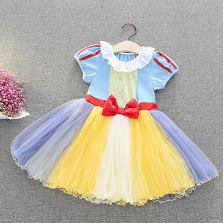 カラフルなチュールスカートが可愛い♡白雪姫ワンピース♪コスプレ プリンセス 夏(ワンピース)