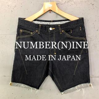 ナンバーナイン(NUMBER (N)INE)の美品!NUMBER(N)INEデニムショートパンツ!日本製!(ショートパンツ)
