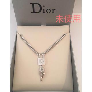 Christian Dior - 【稀少】未使用 クリスチャン ディオール 南京錠ネックレス /シルバー