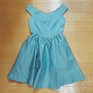 シュープリームララ(Supreme.La.La.)のシュープリームララ スカラップ ドレス ワンピース 結婚式  ミニドレス(ミニワンピース)