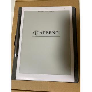 富士通 - 電子ペーパー QUADERNO(クアデルノ) A5サイズ ケース付き