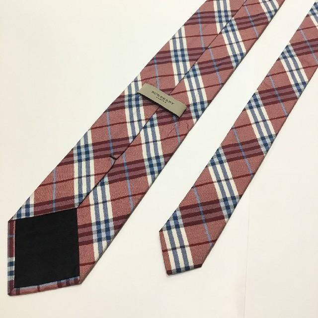 BURBERRY(バーバリー)の新品未使用 BURBERRY バーバリー ネクタイ チェック柄 レッド系 メンズのファッション小物(ネクタイ)の商品写真