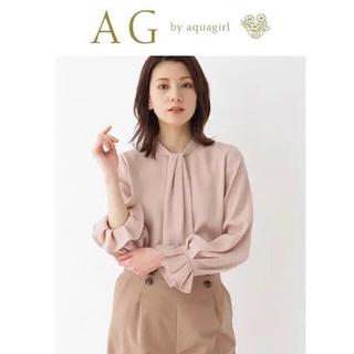 AG by aquagirl - 【未使用新品】【美人百花掲載】キャンディースリーブボウタイ風ブラウス M