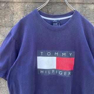 TOMMY HILFIGER - 90's TommyHilfiger デカロゴ Tシャツ ストリート 古着