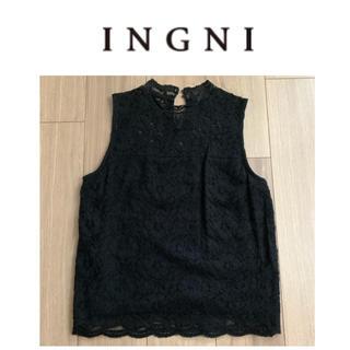 INGNI - INGNI レースデザインノースリーブトップス