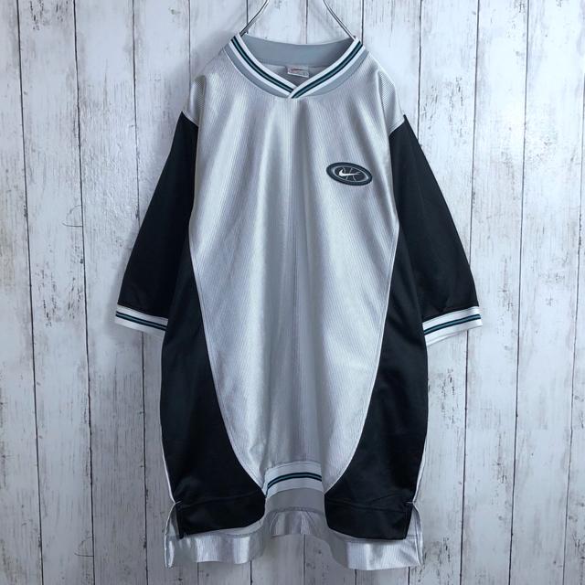 NIKE(ナイキ)の【激レア】 ナイキ 90s 銀タグ 刺繍ロゴ ゲームシャツ ユニフォーム メンズのトップス(Tシャツ/カットソー(半袖/袖なし))の商品写真