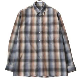 COMOLI - AURALEE SUPER LIGHT WOOL CHECK SHIRTS