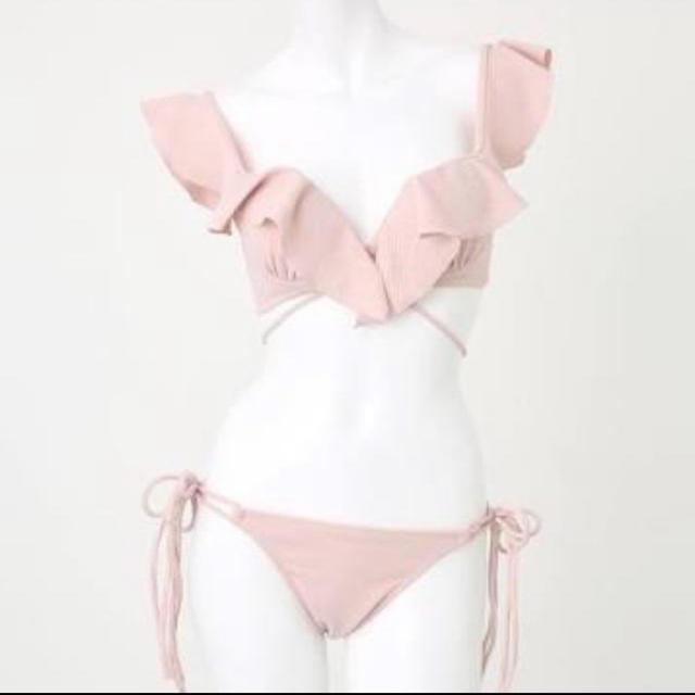 rienda(リエンダ)のrienda フリルクロスカップビキニ ピンク レディースの水着/浴衣(水着)の商品写真