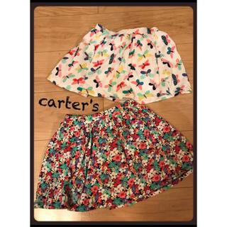 カーターズ(carter's)の2枚セット!carter'sカーターズ スカートキュロット 美品☆4T(パンツ/スパッツ)