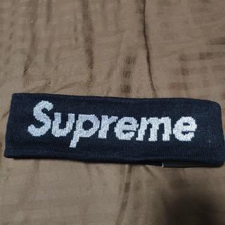 シュプリーム(Supreme)の supreme ヘアバンド 黒 ブラック(ヘアバンド)