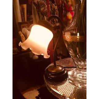 フランフラン(Francfranc)の✳️骨董美術店購入‼️アンティーク曲線アイアン花デザインスタンドランプ‼️(フロアスタンド)