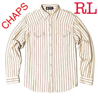 ラルフローレン(Ralph Lauren)のCHAPS RL ストライプウエスタンシャツ 厚手 M(シャツ)