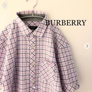 BURBERRY BLACK LABEL - バーバリー ブラックレーベル 半袖チェックシャツ  BURBERRY