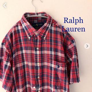 ラルフローレン(Ralph Lauren)のラルフローレン 半袖チェックシャツ  M サイズ Ralph Lauren(シャツ)