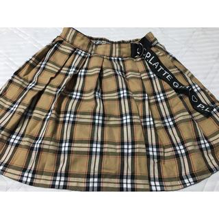 ピンクラテ(PINK-latte)のピンクラテ チェック柄スカート  インパン付き 160cm(スカート)