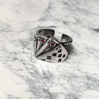 ポーカーリング 指輪 トランプ ポーカー模様