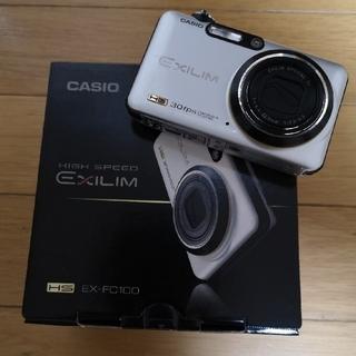 カシオ(CASIO)のCASIO デジタルカメラ EX-FC100(ケース付き)(コンパクトデジタルカメラ)