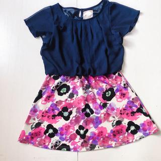 デイジーストア(dazzy store)のワンピース 花柄スカート(ミニワンピース)