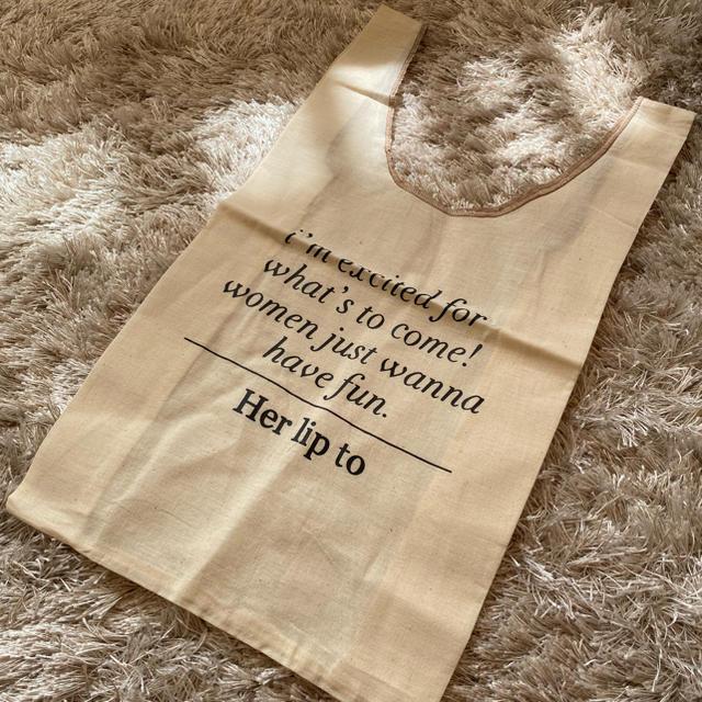 【Her lip to】サロン限定 布製バッグ レディースのバッグ(トートバッグ)の商品写真