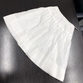 バーバリー(BURBERRY)の☆決算セール☆バーバリー スカート 36サイズ レディース ブランド ホワイト(ひざ丈スカート)