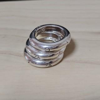 シャネル(CHANEL)のCHANEL シルバー3連リング(リング(指輪))