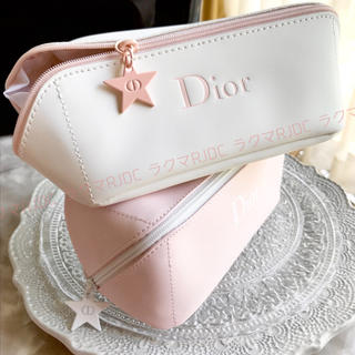 Christian Dior - 【2色お揃いで♡新品未使用】ディオール 化粧ポーチ やわらかポーチ ベビーピンク