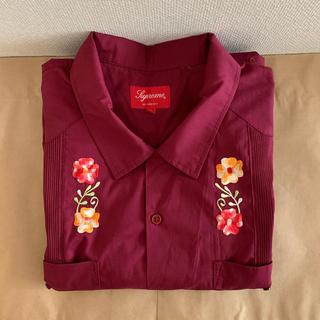 Supreme - 19ss 美品 赤 XL supreme guayabera s/s shirt