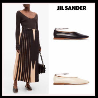 ジルサンダー(Jil Sander)の JIL SANDER NEW♪ツートーン レザーフラットシューズ(ローファー/革靴)