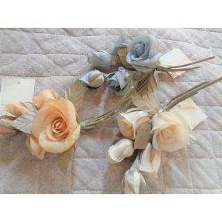 ケティ(ketty)のKETTY コサージュ 薔薇 3点セット ※ ブローチ バラ(ブローチ/コサージュ)
