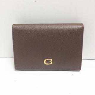 グッチ(Gucci)のグッチ カードケース - ダークブラウン(名刺入れ/定期入れ)