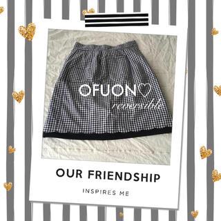 オフオン(OFUON)の《OFUON》チェック&無地リバーシブルスカート♡(ひざ丈スカート)