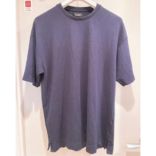 ZARA - 【美品】ZARA 上質 ネイビー Tシャツ オーバーサイズ