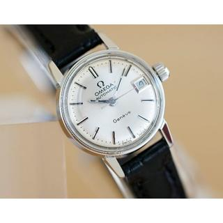 オメガ(OMEGA)の美品 オメガ ジュネーブ シルバー オートマティック デイト レディース (腕時計)
