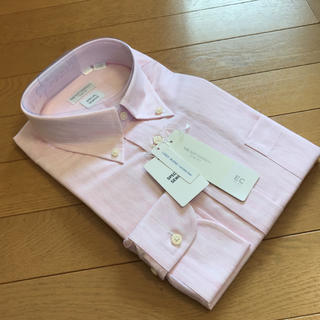 スーツカンパニー(THE SUIT COMPANY)のスーツカンパニー長袖ドレスシャツL41-84cm ボタンダウン リネン混(シャツ)