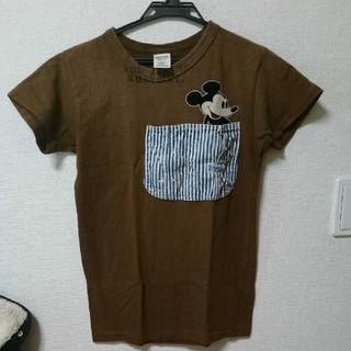デニムダンガリー(DENIM DUNGAREE)のデニムダンガリー☆ ポケット ミッキーTシャツ(Tシャツ/カットソー)